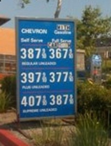 Gas prices higher for credit cards