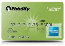 Fideltiy American Express card